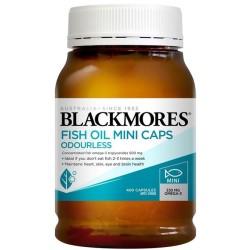 Dầu Cá Không Mùi Blackmores Fish Oil Mini Caps Odourless 400v