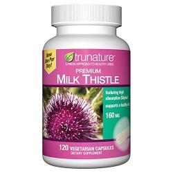 Viên Uống Thảo Mộc Hỗ Trợ Chức Năng Gan Trunature Premiun Milk Thistle 160MG - 120 Viên